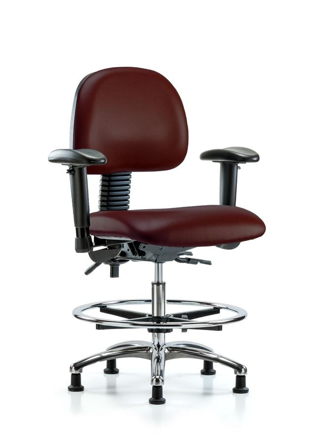 FisherbrandVinyl Chair Chrome - Medium Bench Height with Seat Tilt, Adj