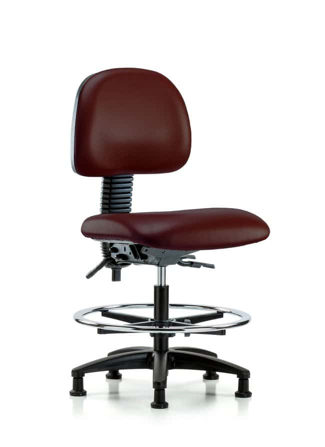 FisherbrandVinyl Chair - Medium Bench Height with Chrome Foot Ring and