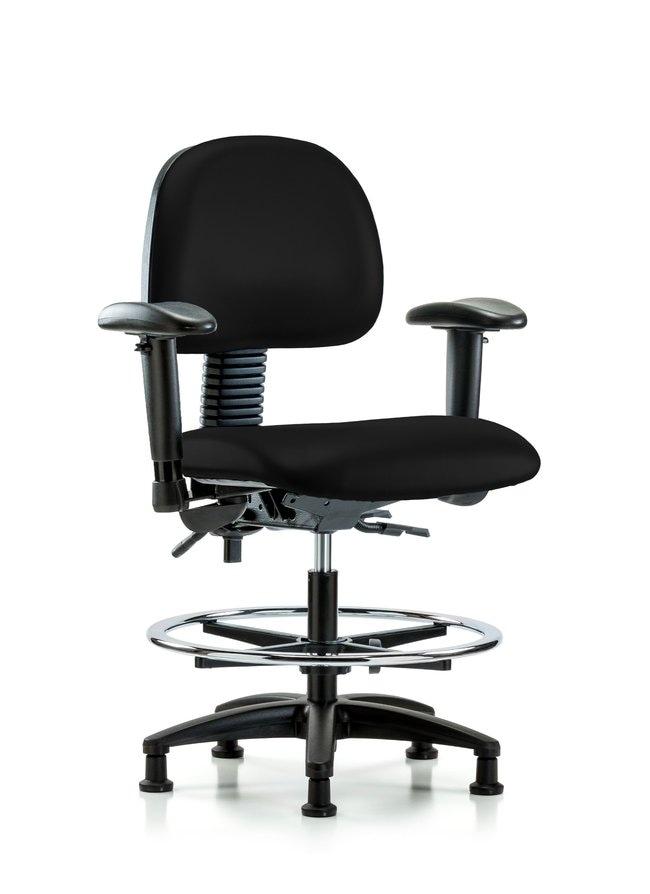Fisherbrand Vinyl Chair - Medium Bench Height with Seat Tilt, Adjustable