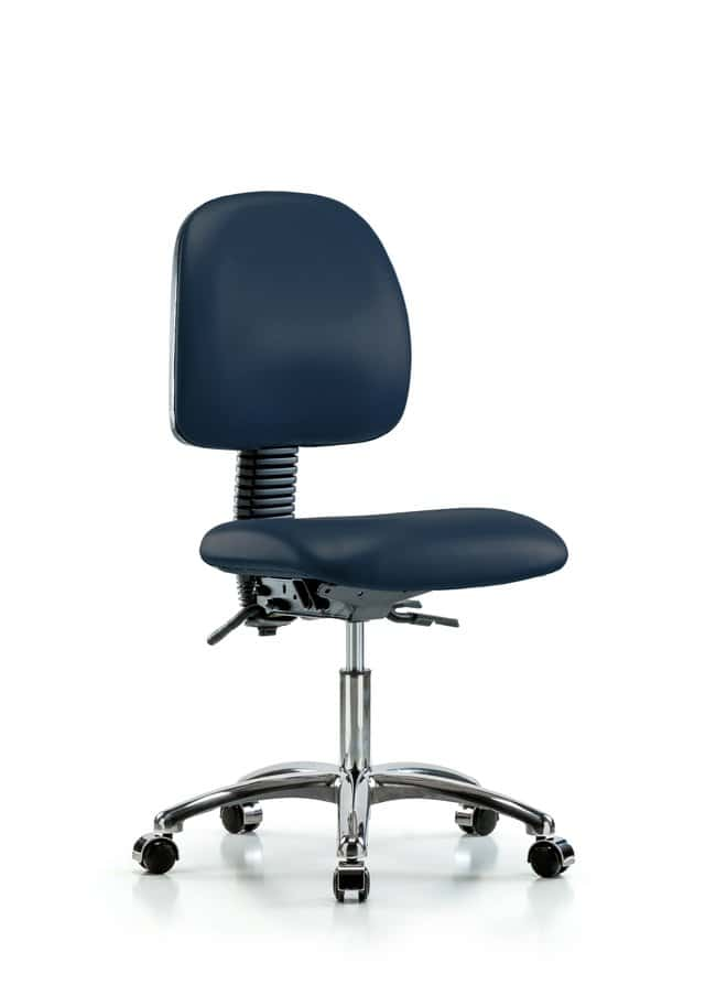 Fisherbrand Vinyl Chair Chrome - Desk Height with Medium Back and Casters