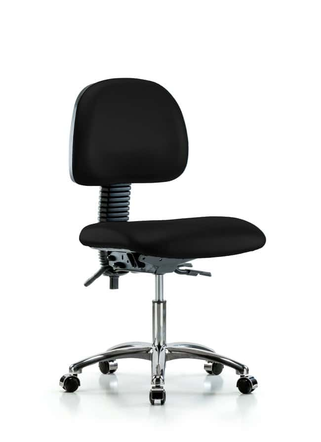 FisherbrandVinyl Chair Chrome - Desk Height with Casters in Grade B Vinyl:Furniture:Seating