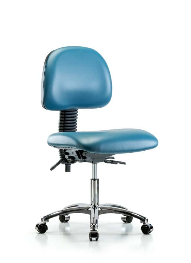 Fisherbrand Vinyl Chair Chrome - Desk Height with Seat Tilt and Casters