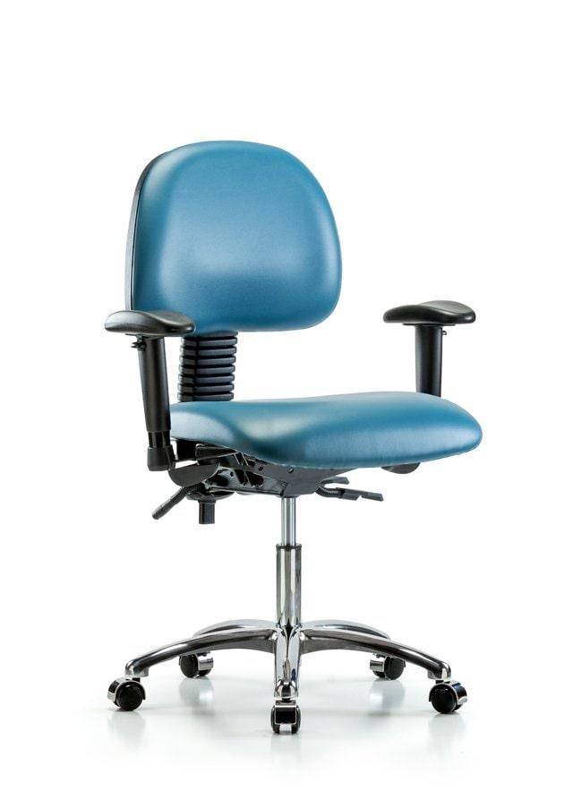 FisherbrandVinyl Chair Chrome - Desk Height with Seat Tilt, Adjustable