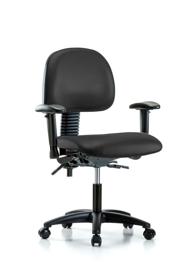 FisherbrandVinyl Chair - Desk Height with Seat Tilt, Adjustable Arms, and