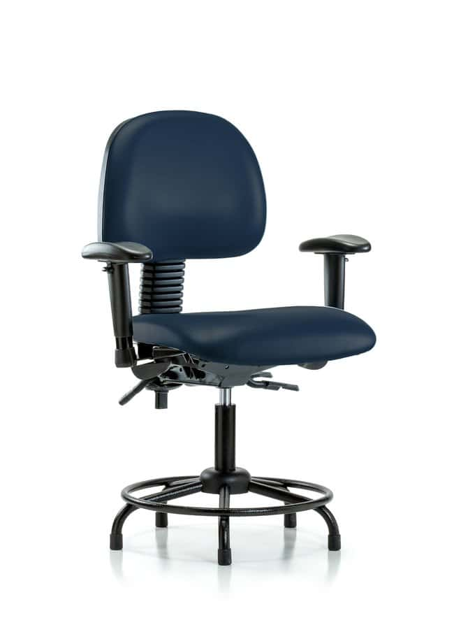 FisherbrandVinyl Chair - Desk Height with Round Tube Base, Seat Tilt, Adjustable