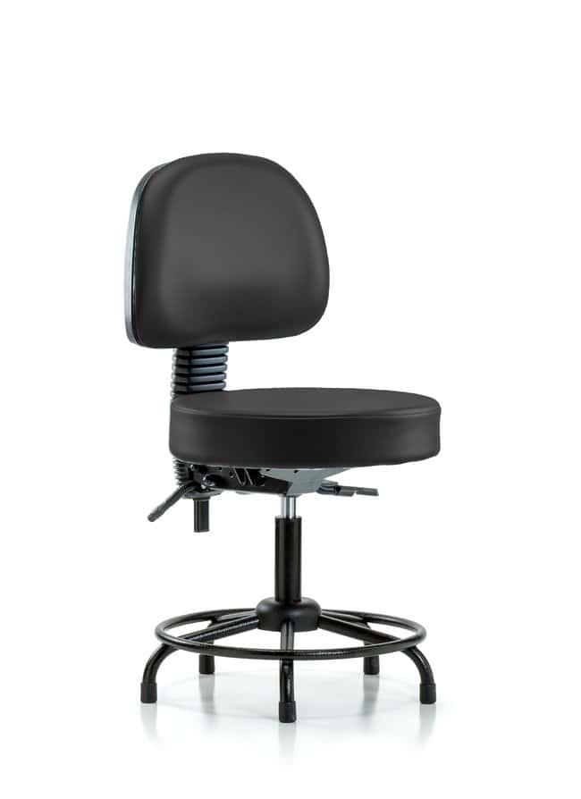 FisherbrandVinyl Stool with Back - Desk Height with Round Tube Base, Seat