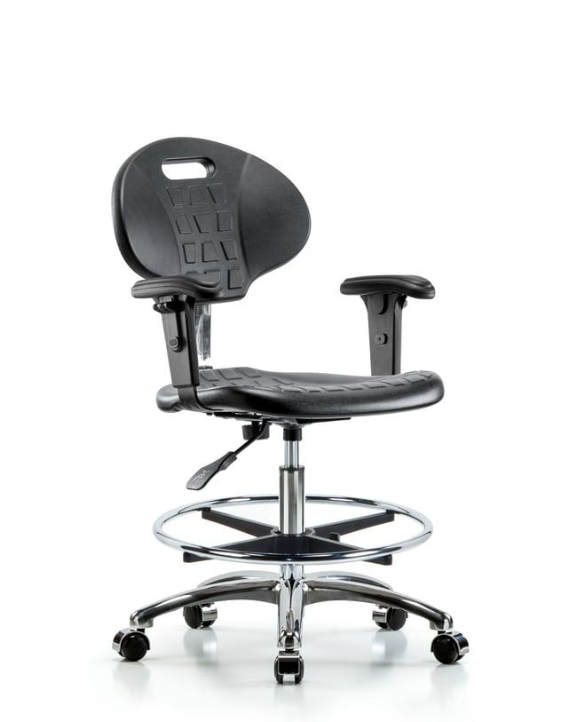 FisherbrandClass 10 Erie Polyurethane Clean Room Chair - Medium Bench Height