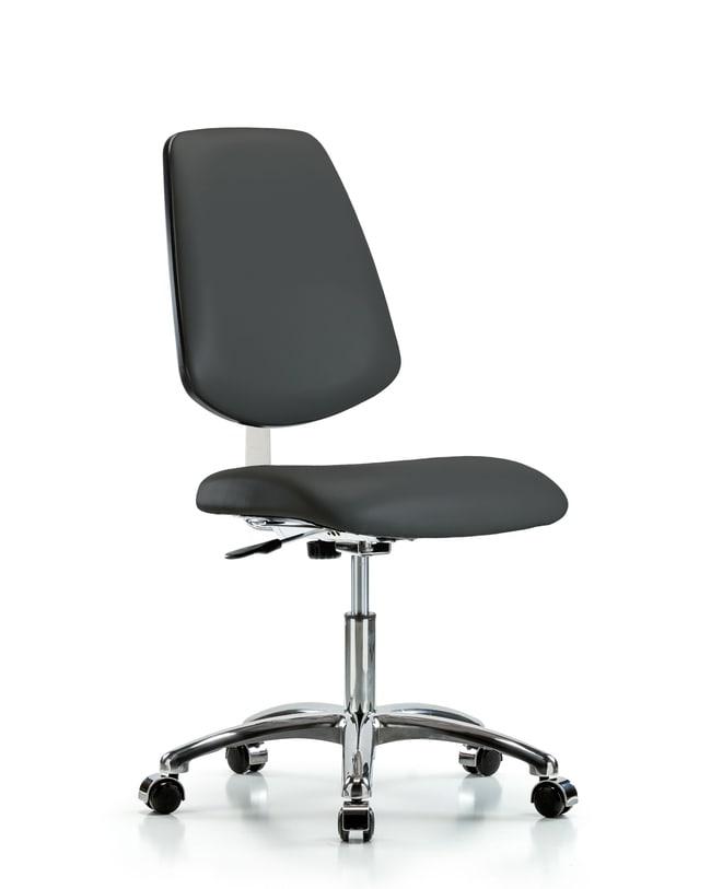 Fisherbrand Class 10 Clean Room Vinyl Chair Chrome - Desk Height with Medium