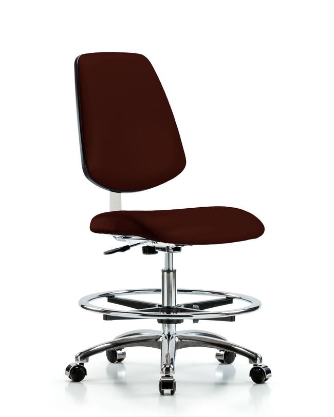 FisherbrandClass 10 Clean Room Vinyl Chair Chrome - Medium Bench Height