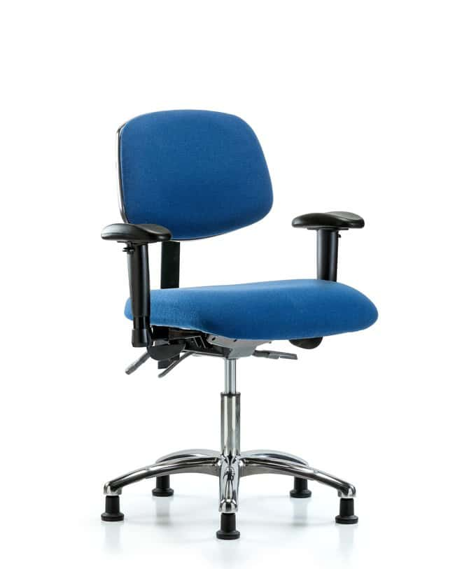 Fisherbrand Fabric ESD Chair - Desk Height with Seat Tilt, Adjustable Arms,