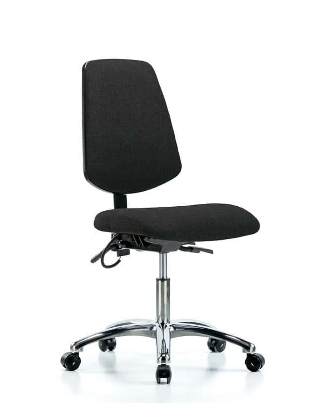 FisherbrandFabric ESD Chair - Desk Height with Medium Back and ESD Casters