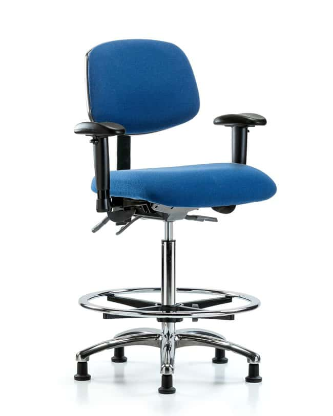 FisherbrandFabric ESD Chair - High Bench Height with Adjustable Arms, Chrome