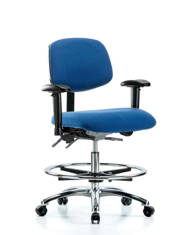 FisherbrandFabric ESD Chair - Medium Bench Height with Seat Tilt, Adjustable