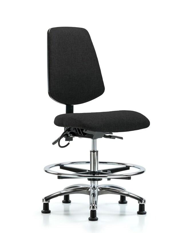 FisherbrandFabric ESD Chair - Medium Bench Height with Medium Back, Chrome