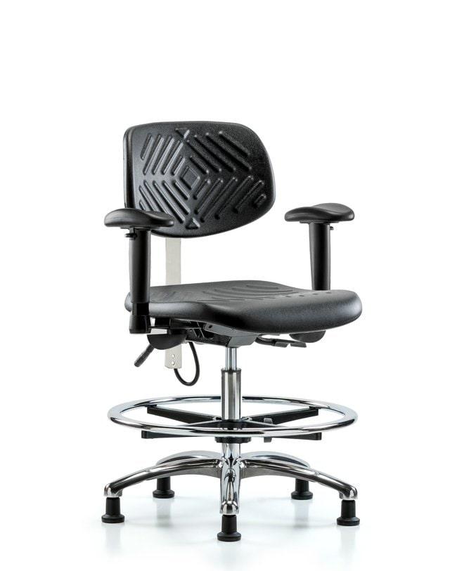FisherbrandPolyurethane ESD Chair - Medium Bench Height with Chrome Foot