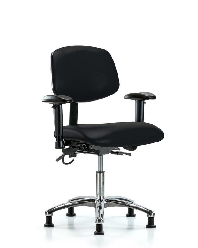 FisherbrandVinyl ESD Chair - Desk Height with Seat Tilt, Adjustable Arms,