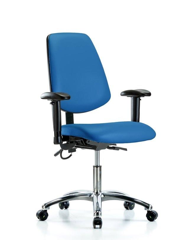 FisherbrandVinyl ESD Chair - Desk Height with Medium Back, Seat Tilt, Adjustable