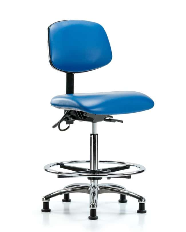 FisherbrandVinyl ESD Chair - High Bench Height with Chrome Foot Ring and