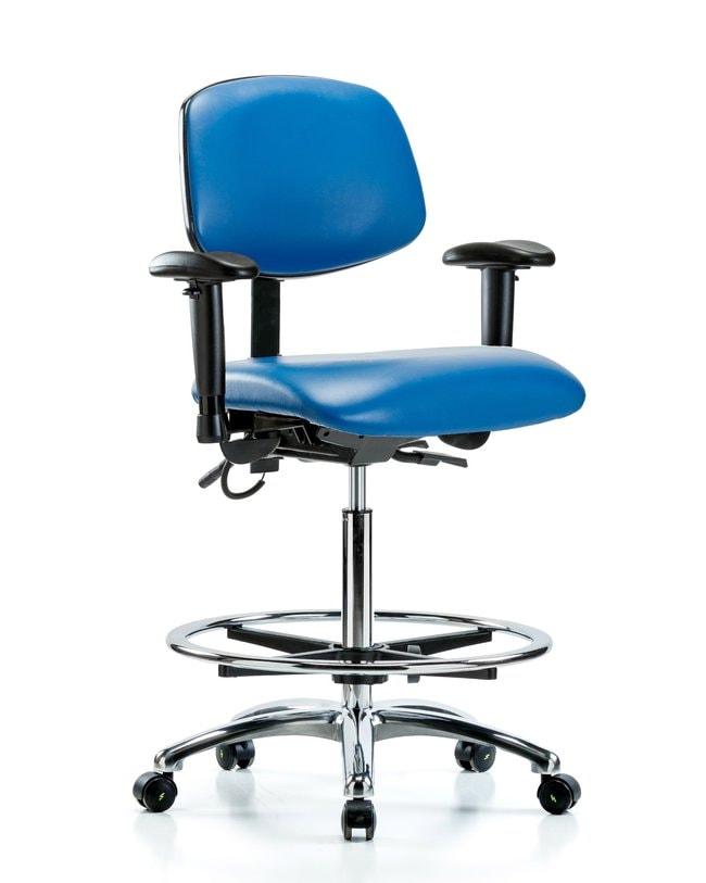 FisherbrandVinyl ESD Chair - High Bench Height with Seat Tilt, Adjustable