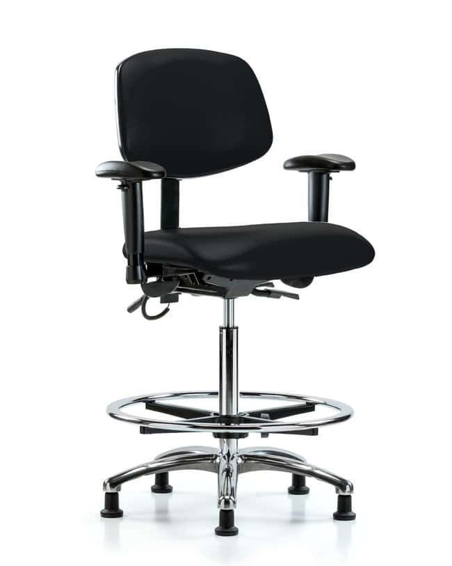 Fisherbrand Vinyl ESD Chair - High Bench Height with Seat Tilt, Adjustable