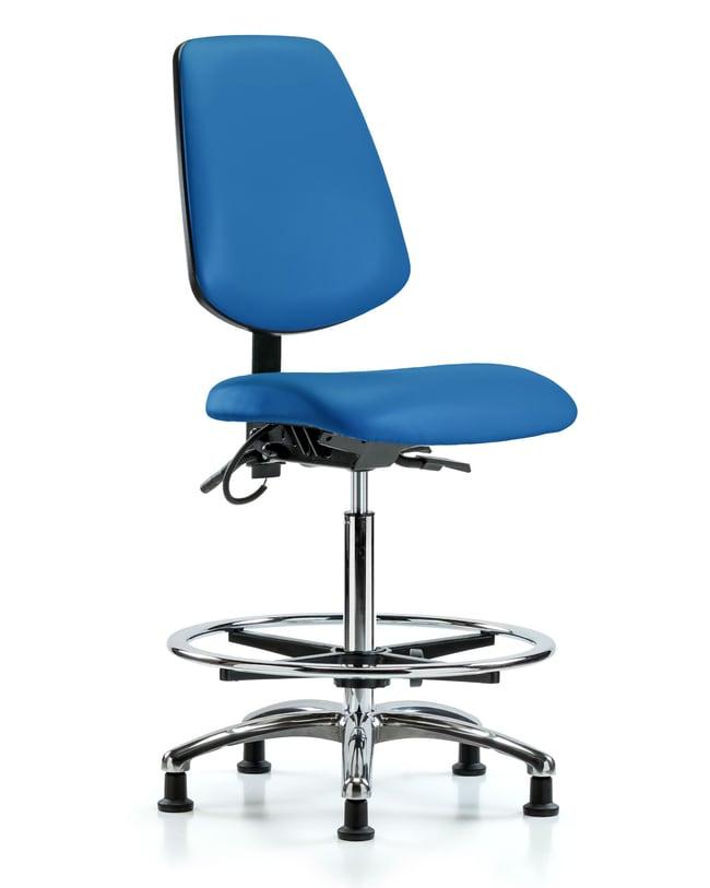 FisherbrandVinyl ESD Chair - High Bench Height with Medium Back, Chrome