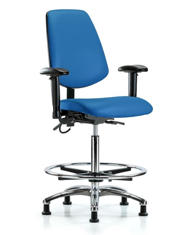 FisherbrandVinyl ESD Chair - High Bench Height with Medium Back, Seat Tilt,