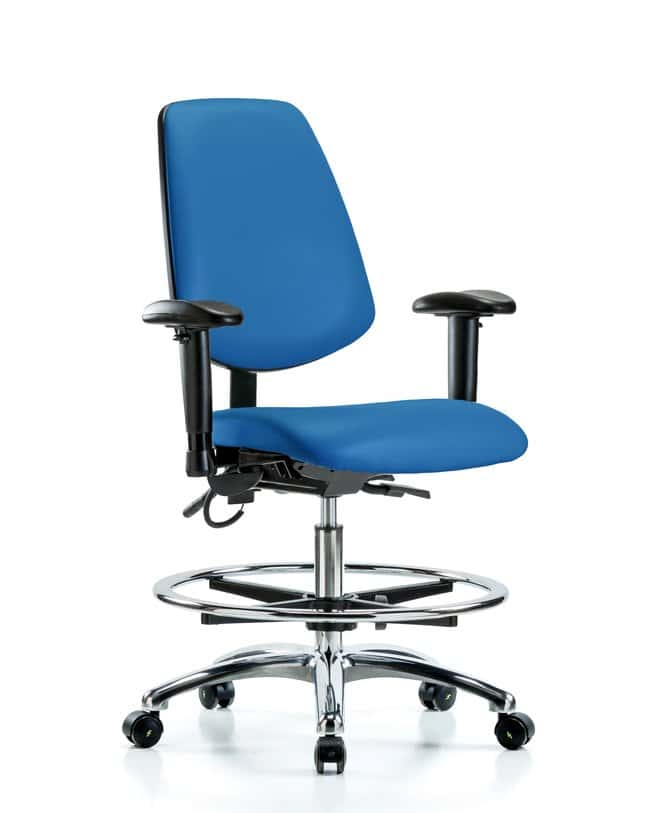 Fisherbrand Vinyl ESD Chair - Medium Bench Height with Seat Tilt, Adjustable