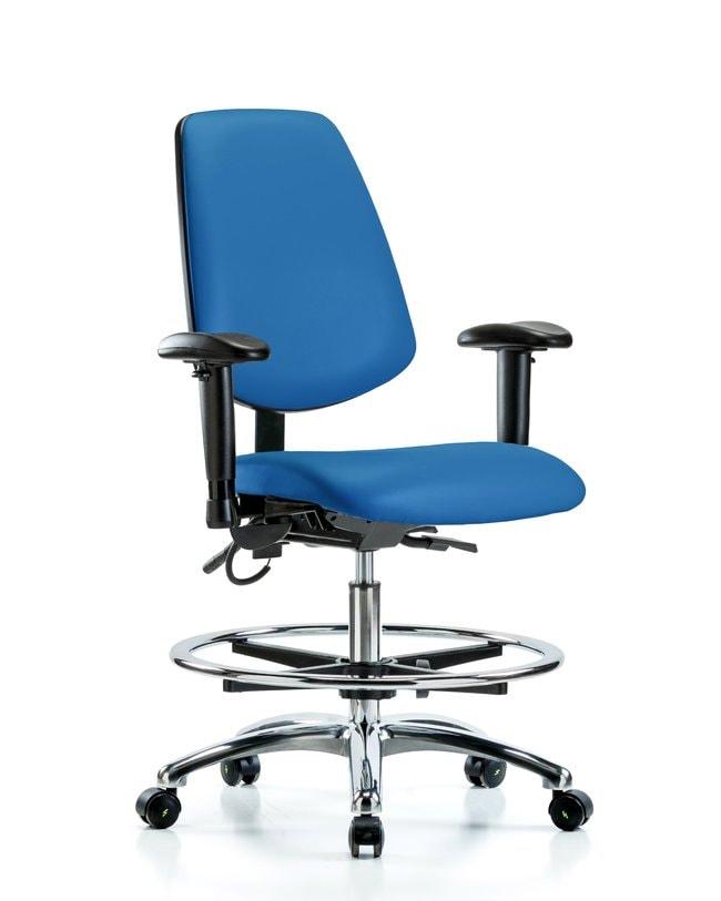 FisherbrandVinyl ESD Chair - Medium Bench Height with Seat Tilt, Adjustable
