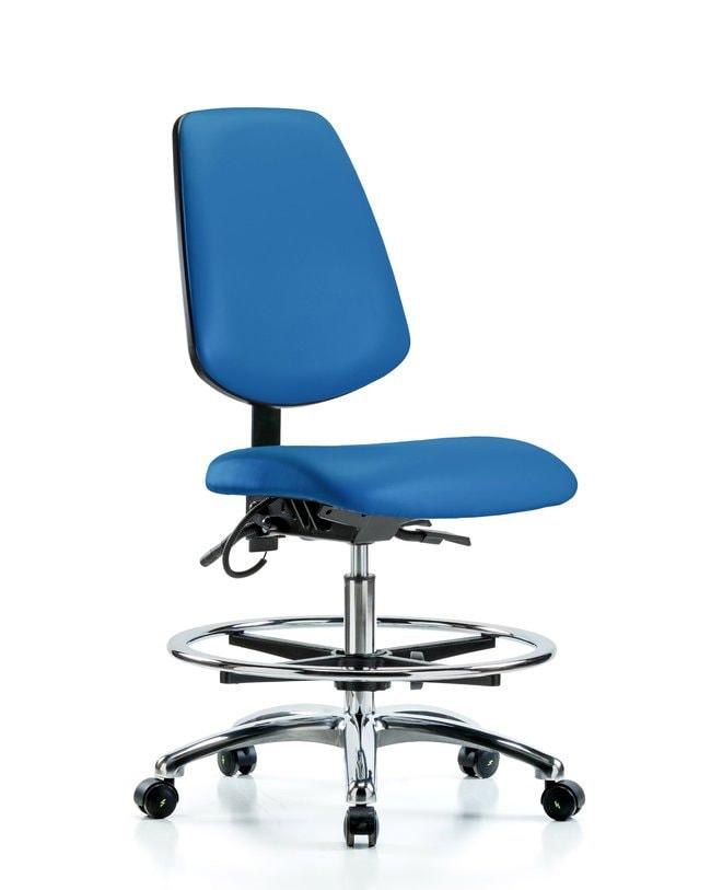 FisherbrandVinyl ESD Chair - Medium Bench Height with Medium Back, Chrome