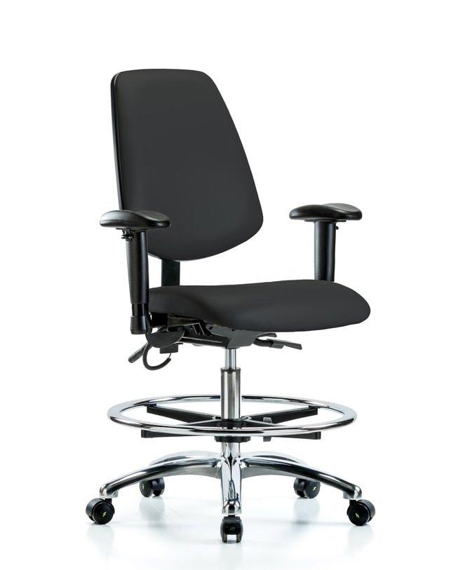 FisherbrandVinyl ESD Chair - Medium Bench Height with Medium Back, Seat