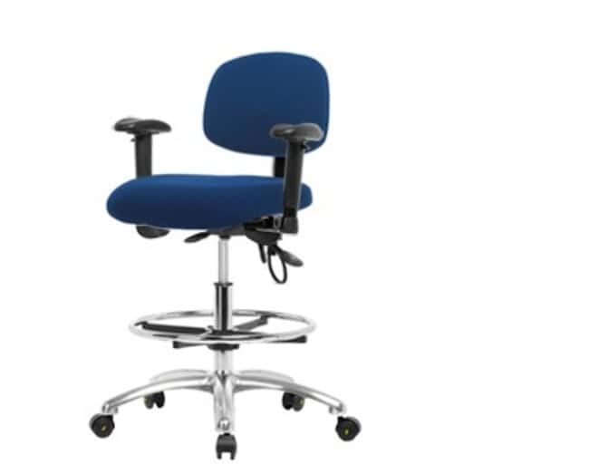 Fisher Science Education Pneumatic Fabric ESD Chairs with Adjustable Arms,