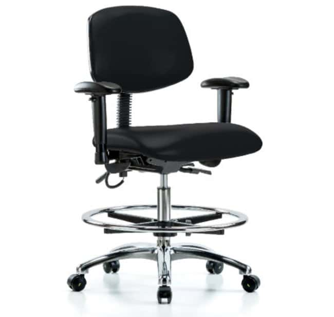 Fisher Science Education Vinyl ESD Chrome Chairs with Adjustable Arms,