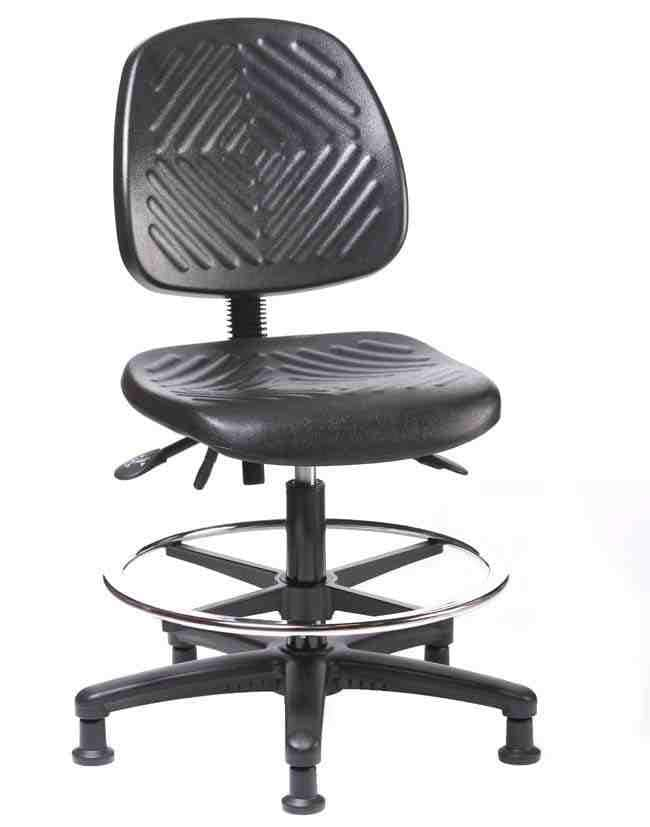 Fisher Science Education Pneumatic Polyurethane Chair with Medium Back,