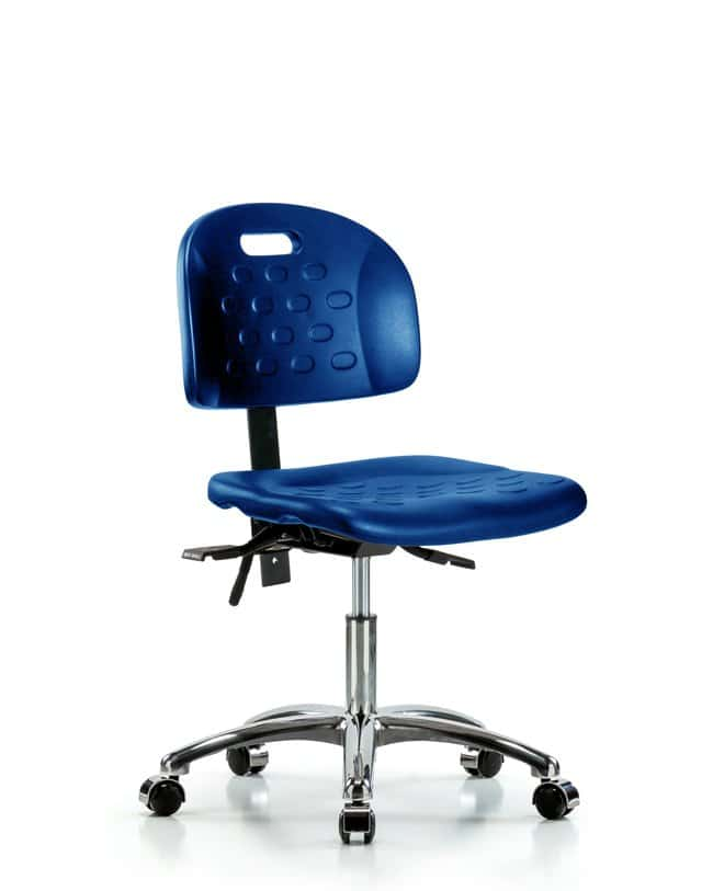 FisherbrandNewport Industrial Polyurethane Chair Chrome - Desk Height with