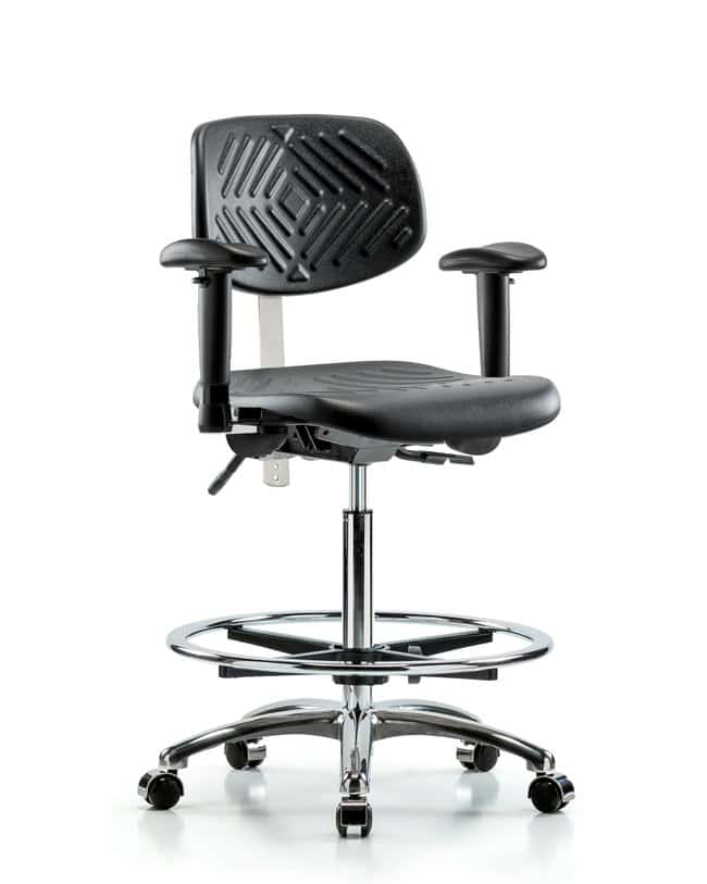 Fisherbrand Class 100 Poly Clean Room Chair - High Bench Height with Seat