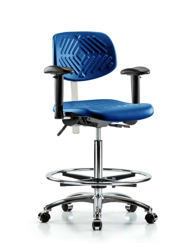 FisherbrandClass 100 Poly Clean Room Chair - High Bench Height with Seat