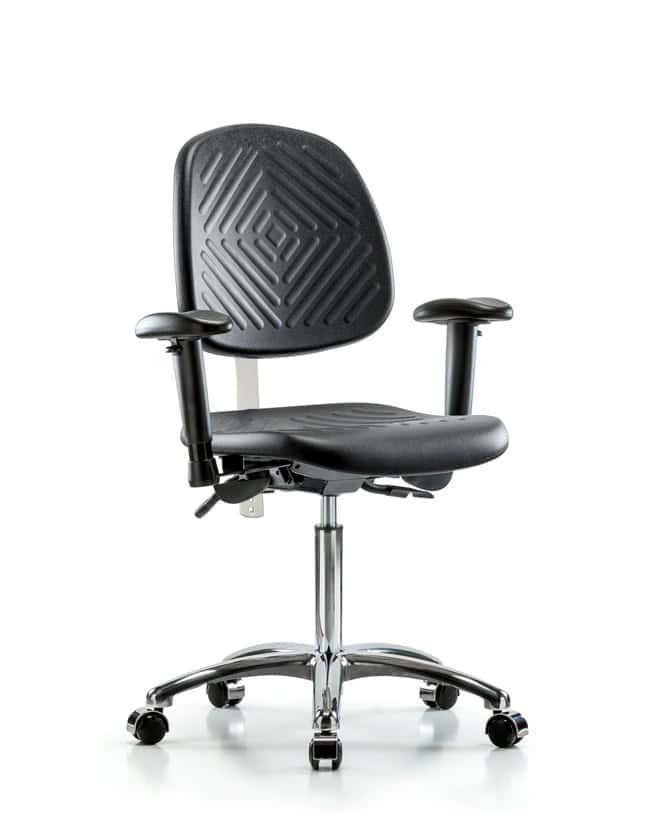 Fisherbrand Class 100 Poly Clean Room Chair - Medium Bench Height with