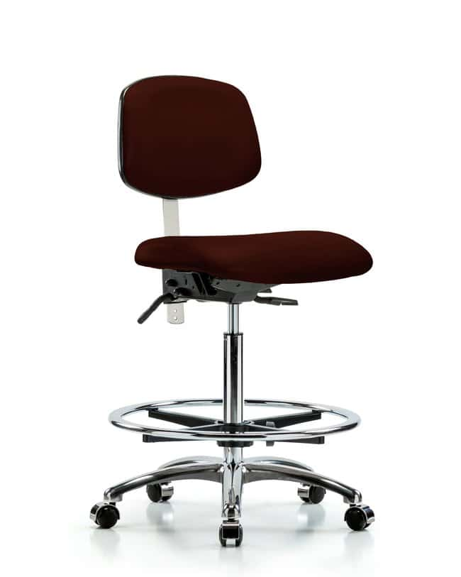 FisherbrandClass 100 Vinyl Clean Room Chair - High Bench Height with Chrome