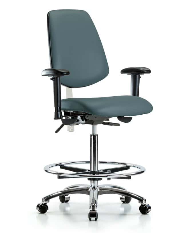 FisherbrandClass 100 Vinyl CR Chair - High Bench Height with Med Back,