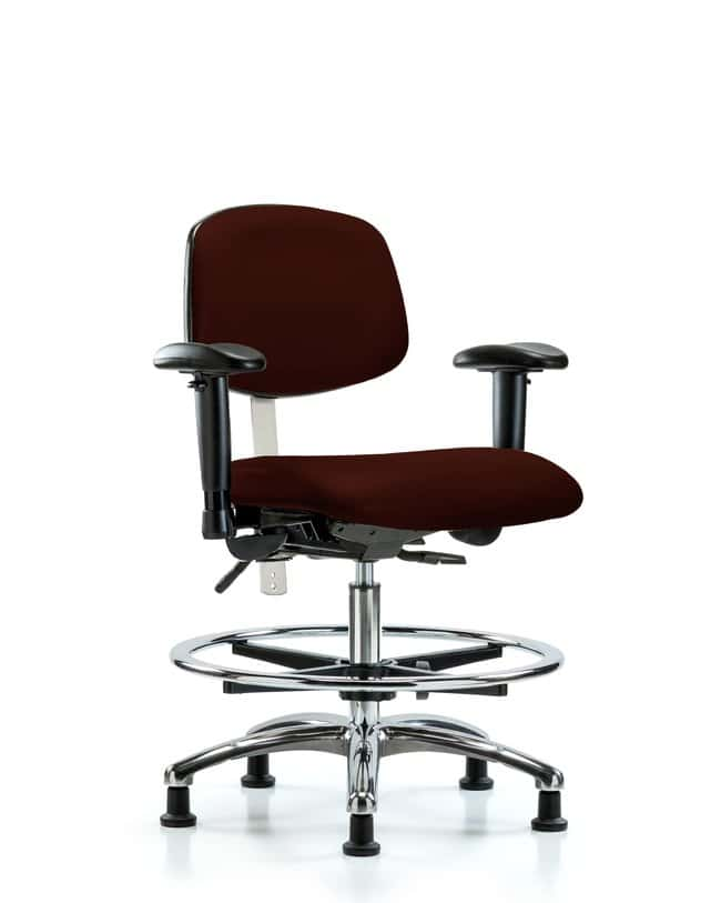 Fisherbrand Class 100 Vinyl Clean Room Chair - Med Bench Height with Seat