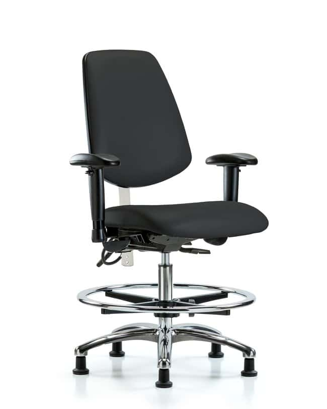 FisherbrandClass 100 Vinyl CR/ESD Chair - Med Bench Height with Med Back,