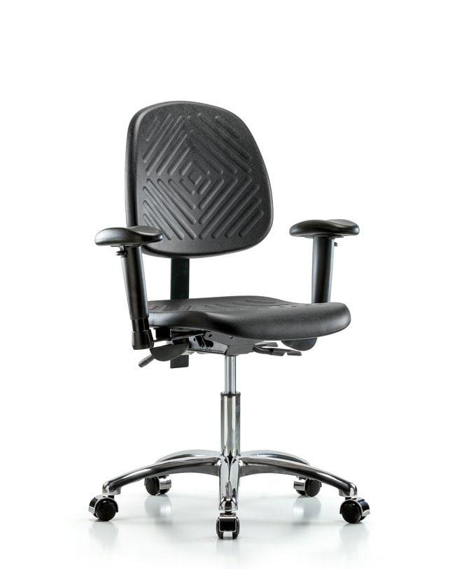 FisherbrandPolyurethane Chair Chrome - Desk Height with Medium Back, Seat