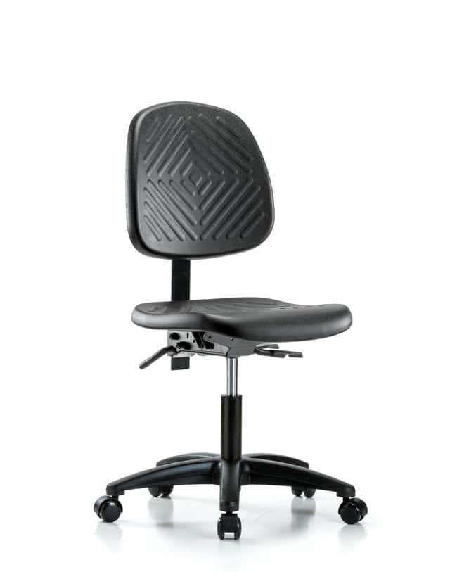 FisherbrandPolyurethane Chair - Desk Height with Medium Back and Casters