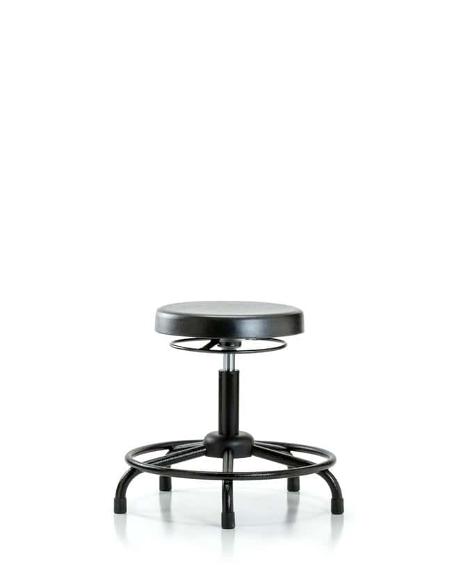 Fisherbrand Polyurethane Stool - Desk Height with Round Tube Base and Casters