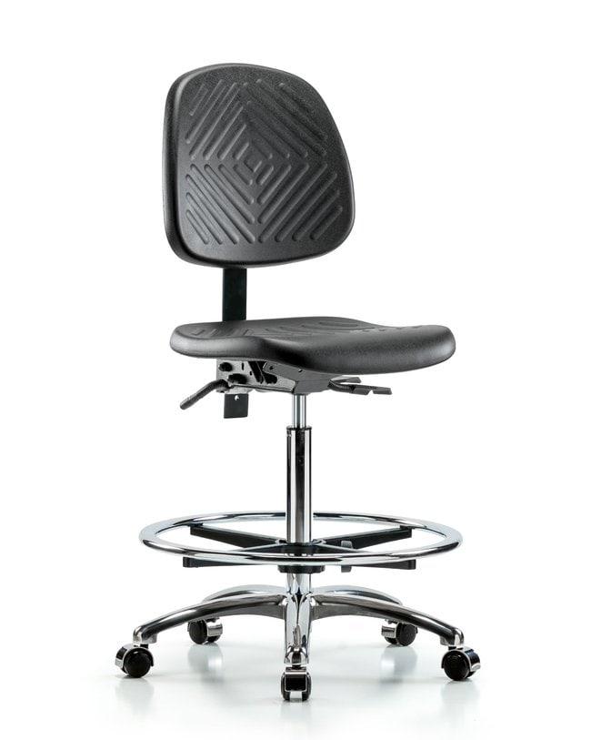 FisherbrandPolyurethane Chair Chrome - High Bench Height with Medium Back,