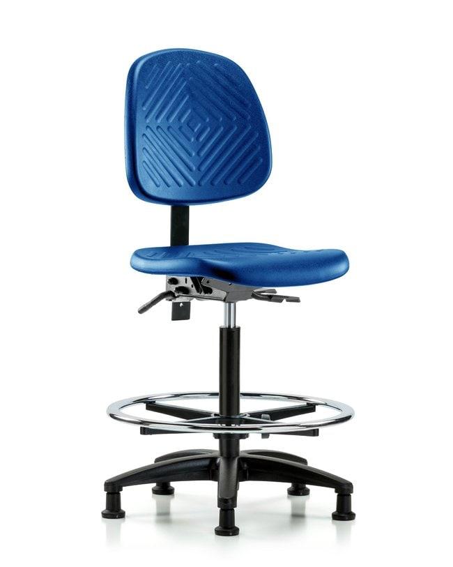 FisherbrandPolyurethane Chair - High Bench Height Medium Back, Chrome Foot