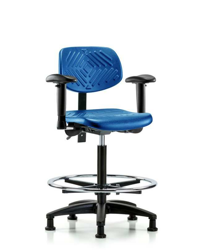 FisherbrandPolyurethane Chair - High Bench Height with Seat Tilt, Adjustable
