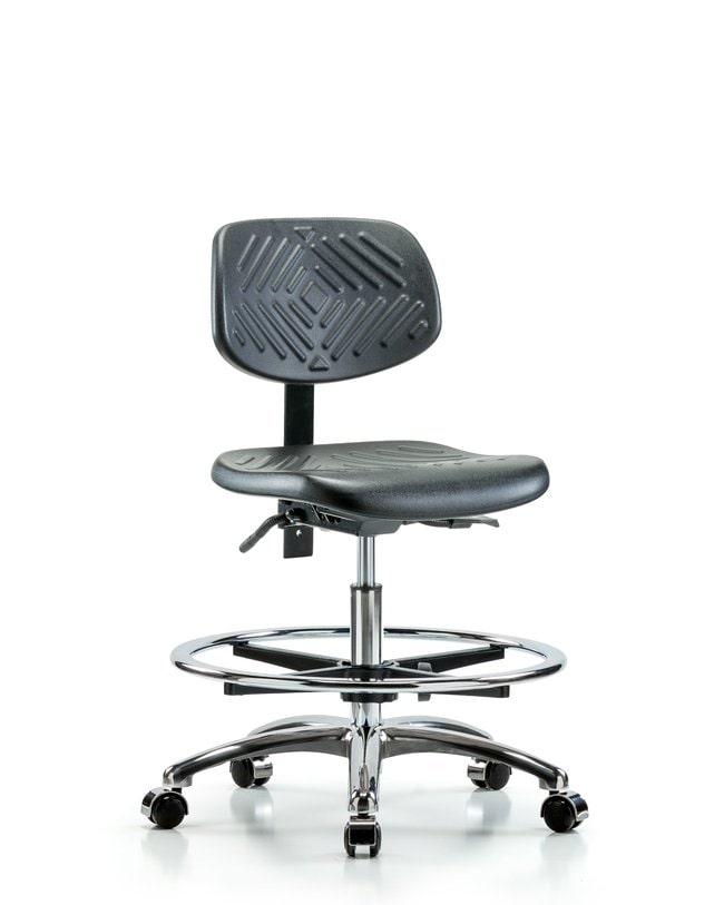 FisherbrandPolyurethane Chair Chrome - Medium Bench Height with Chrome