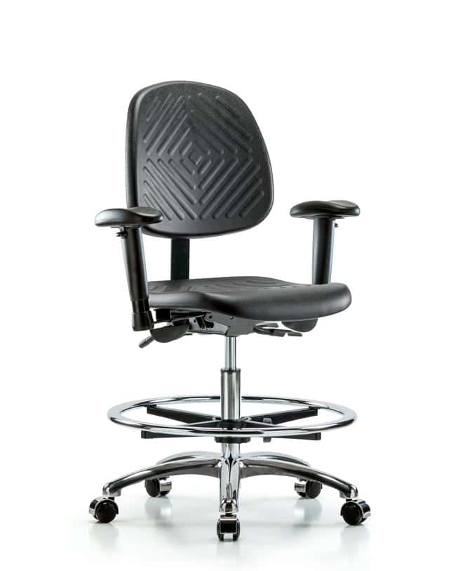 FisherbrandPoly Chair Chrome - Medium Bench Height with Medium Back, Seat