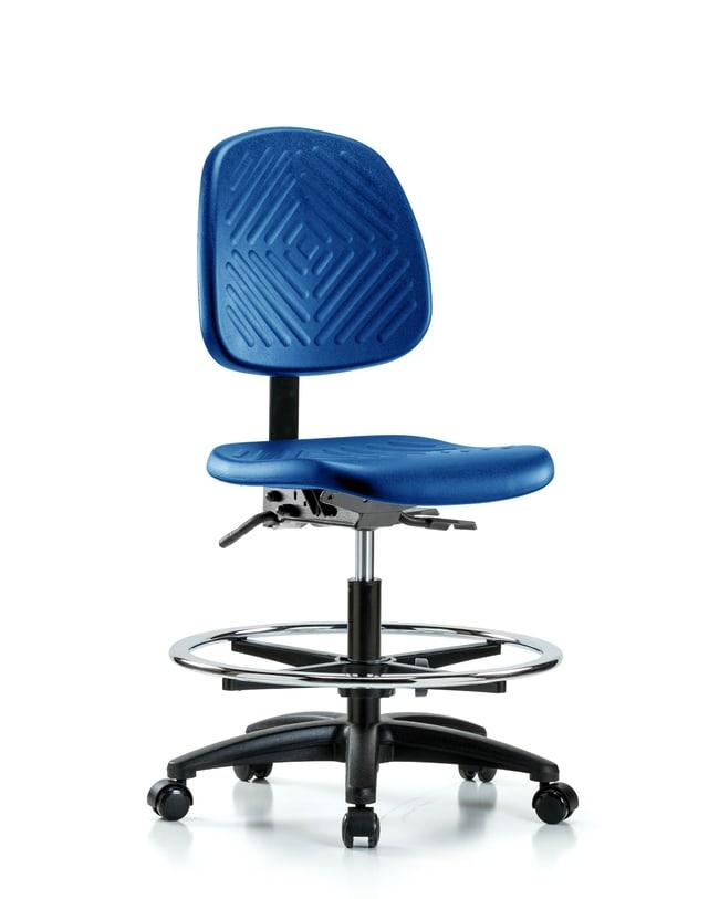 FisherbrandPolyurethane Chair - Medium Bench Height with Medium Back, Chrome